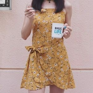 Dresses & Skirts - The TIFFANY Dandelion Floral Wrapped Tie Dress